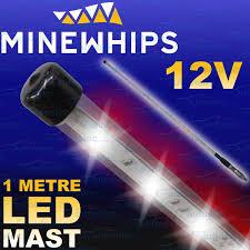 Whip Flag Mine Whip Led 1 08 Metre High Vis Safety Sand Dune Mining Flag
