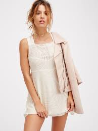 free people placed lace mini in white lyst