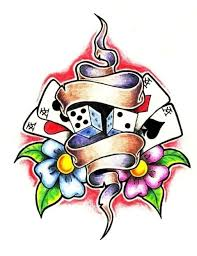 dice tattoos designs