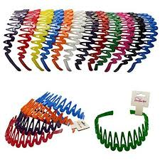 plastic headbands plastic headband with teeth 12 headbands bright color