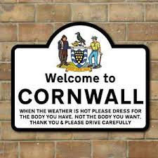 funny welcome funny welcome to cornwall sign funny sign joke road sign joke