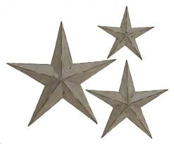 handcrafted rustic metal wall decor stars set of 3 11068505