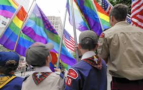 Rainbow Us Flag Randy Blaser Boy Scouts Move To Allow Leaders Long Overdue