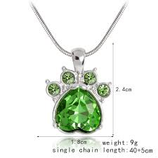 crystal rhinestone necklace images Paw crystal rhinestone necklace marsa jpg