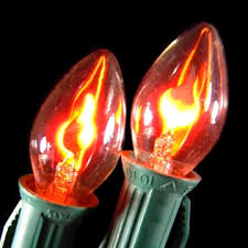 flicker flame string lights replacement bulbs c7 flicker flame 1w 120v 2 pack rounded tip