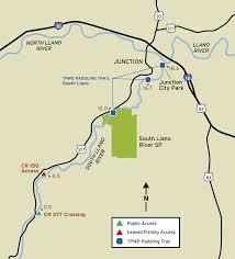 Texas Rivers Map South Llano River Fishing