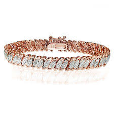 rose gold bracelet with diamonds images Rose gold fine diamond bracelets ebay jpg