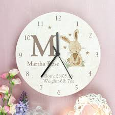 Design Clock by Personalised Giraffe Or Rabbit Design Wooden Clock By Letteroom