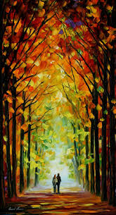 altar of trees u2014 palette knife oil painting on canvas by leonid