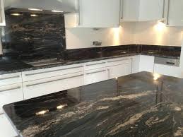 plan de travail cuisine granit cuisine marbre noir plan de cuisine en granit noir cuisine marbre