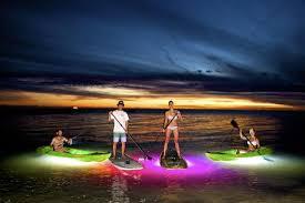 kayak lights for night paddling glass bottom kayak at night is like snorkeling without getting wet