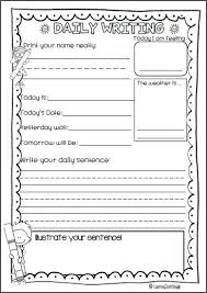 daily writing for kindergarten pre primary first grade and