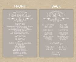 what goes on wedding programs best 25 wedding programs wording ideas on wedding