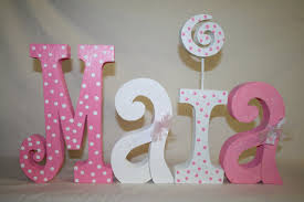 baby nursery decor simple polkadots wooden baby letters for