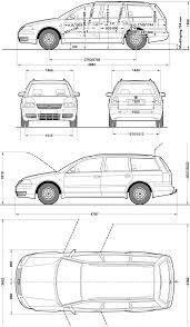 volkswagen wagon 2001 2001 volkswagen passat v b5 5 variant wagon blueprints free