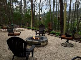 our patio pea gravel gas fire pit cafe lights fire pits