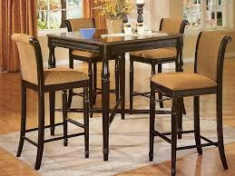 high top dining table for 4 cheap small kitchen table sets brick walls elegant wooden floor