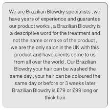 testimonials brazilian blow drys glasgow hairstyle specialists