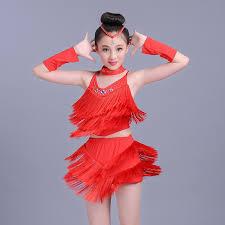 kids samba high quanlity samba dancewear fringe child fancy salsa