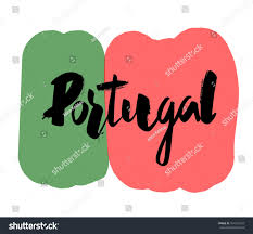 What Are The Colors Of The Portuguese Flag Hand Writing Portugal Flag Colors Background Stock Vector