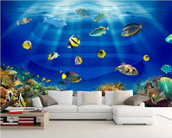 Wall Mural Sunlight In The Online Get Cheap Fish Wall Paper Aliexpress Com Alibaba Group