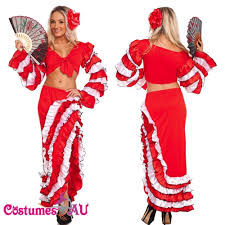 Spanish Dancer Halloween Costume Spanish Mexican Flamenco Latin Dancer Costume Saloon