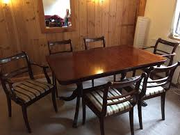 Elegant Mahogany Dining Table Complete Set Of Original Chairs - Mahogany kitchen table