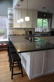 wallpaper in kitchen ideas wonderful kitchens with breakfast bar designs 53 in kitchen