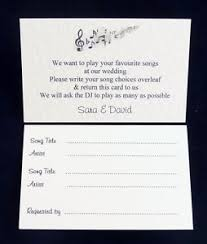 wedding song request cards wedding party dj song record request cards 2 wording choices ebay