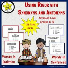 antonyms for isolation synonyms and antonyms task cards by colleagues tpt