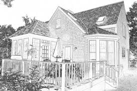 mcarthur house drawing backside