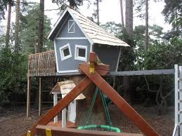 Real Treehouse Crooked Treehouse Superior Play Enchanted Creations Playhouses