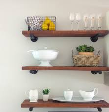 Kitchen Wall Shelves Ideas by Stunning Rustic Kitchen Shelves Pictures Decoration Inspiration
