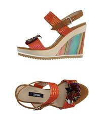 zinda sandals orange soft leather women footwear free shipping