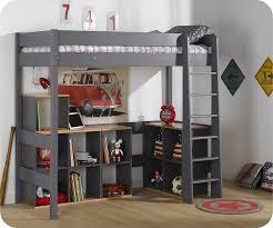 bureau sous lit mezzanine lit mezzanine enfant clay gris anthracite 90x190 cm jpg