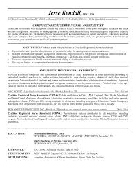 Ses Resume Examples by Example Nurse Anesthetist Resume Free Sample