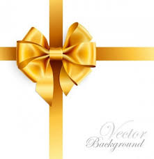 gold ribbons luxurious gift with glossy gold ribbon free background
