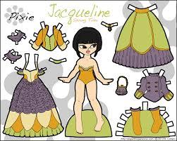 jacqueline a paper doll in four different color schemes u2022 paper
