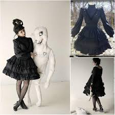 Halloween Victorian Costumes Arrival Black Gothic Prom Dresses Southern Belle Victorian