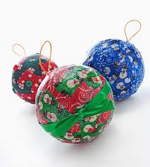 Xmas Kids Crafts - kids christmas crafts decoupage ornaments fabric christmas