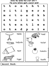 letter t alphabet activities at enchantedlearning com