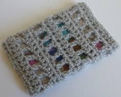 Bling Business Card Holder Crochet Dynamite Shell Stitch Business Card Holder