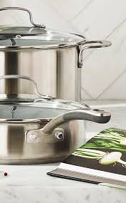 handle science cookware to have non slip silicone grips and extra long handles for easy and safe lifting shop cookware from the martha stewart collection