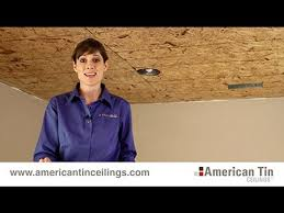 How To Put Up Tin Ceiling Tiles by Installing Nail Up Tin Ceiling Tiles 3 3 Youtube