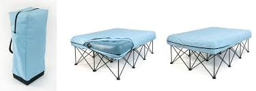 kiwi camping portable airbed frame with deluxe velour queen