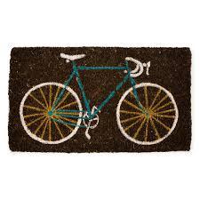 bike doormat bike doormat bicycle home decor coconut fiber