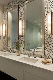 new york contemporary bathroom mirrors with double vanity white