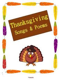 thanksgiving songs poems by bitz teachers pay teachers