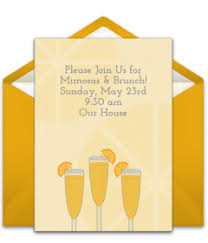 mimosa brunch invitations free brunch and lunch online invitations punchbowl