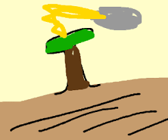 Tree Gets Struck By Lightning Drawing By Frodotimbaku32